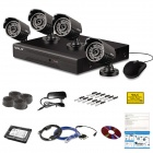 VOLS VS-4029CS 4-CH 960H DVR Beveiligingssysteem met 500 GB HDD, 4 x 700TVL IR-camera's - Zwart (US Plugs)