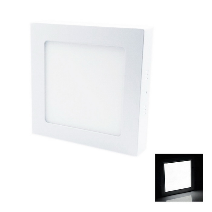 12W 1080lm 6000K 60-SMD 2835 LED White Square Ceiling Panel Light - White (AC 85~265V)