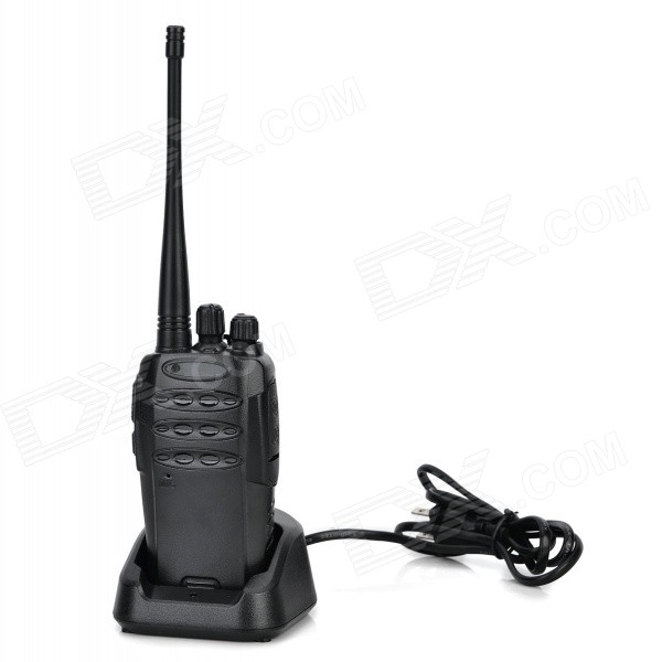 Handheld 8W 16-CH 480MHz Walkie Talkie - Black (5V)