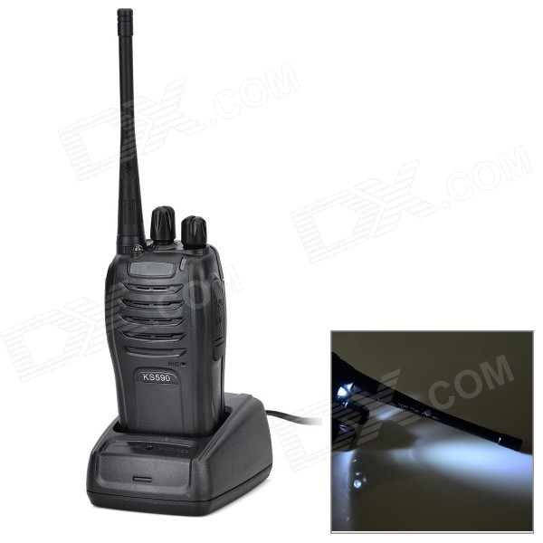 Handheld 5W 15-CH 470MHz Walkie Talkie - Black (3.7V)