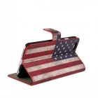 Stylish U.S. Flag Pattern Flip-open PU Leather Case w/ Holder + Card Slot for IPHONE 6 4.7""