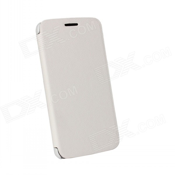 Protector Flip Open Leather Case para LG Optimus G2 - Branco