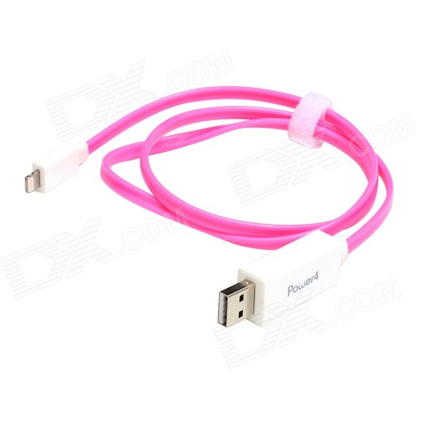 MFi Power4 Visible Flowing Current Lightning to USB 2.0 Charge Sync Cable for IPHONE/IPAD/IPOD(80cm)