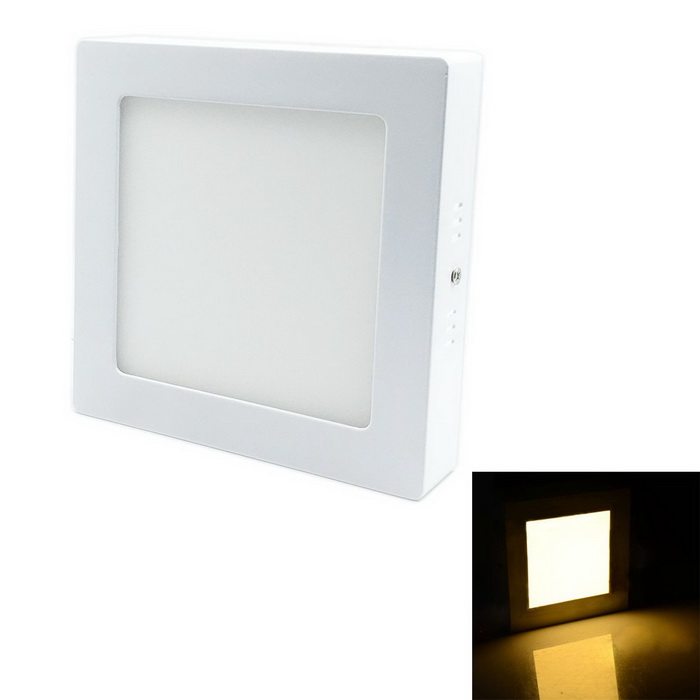 G-L008 8W 720lm 3000K 40-SMD 2835 LED Warm White Square Ceiling Panel Light - White (AC 85~265V) 150pcs square led panel light 600x600 mm smd3014 40w 60x60 ceiling lights aluminum focus led
