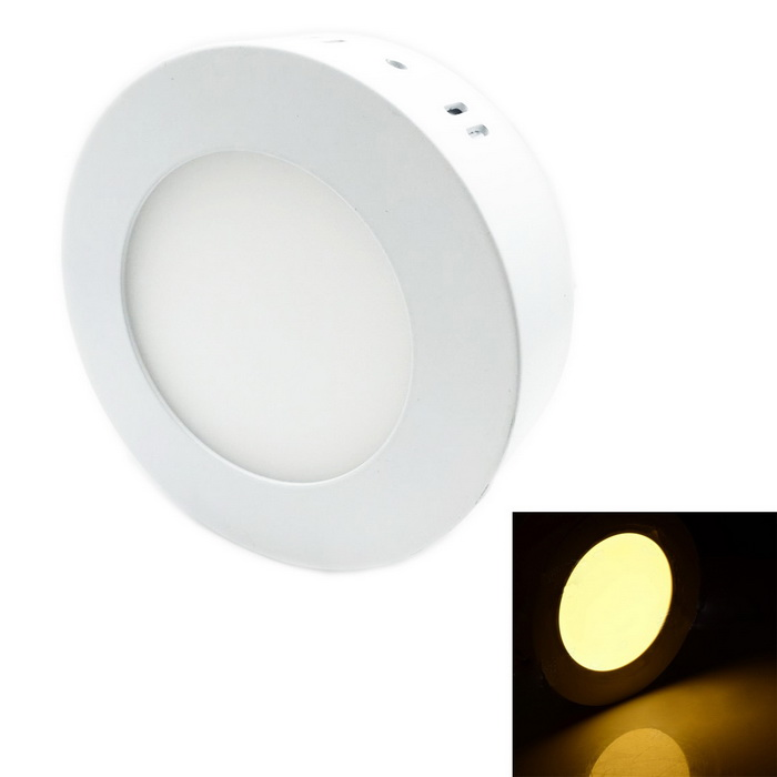 7W 630lm 3000K 35-SMD 2835 LED Warm White Round Ceiling Panel Light - White (AC 85~265V)