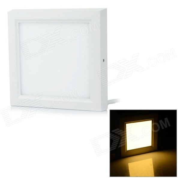 12W 1080lm 3000K 60-SMD 2835 LED Warm White Square Ceiling Panel Light - White (AC 85~265V)