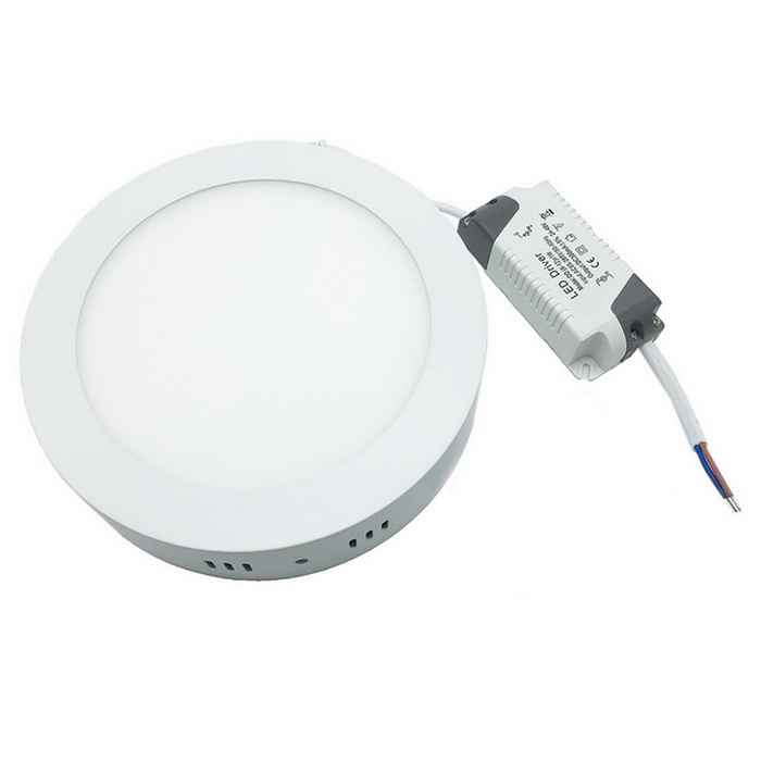 12W 1080lm 3000K 60-SMD 2835 LED Warm White Round Ceiling Panel Light - White (AC 85~265V)