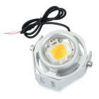 JRLED JRLED-10W-12V LED impermeável 580nm 10W 400LM Luz Mini Amarelo Spotlight - Silver (AC / DC 12V)