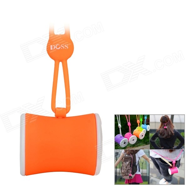 DOSS DS-1159 Waist Drum Shaped Portable Outdoor Wearable Wireless Bluetooth Speaker w/ TF - Orange