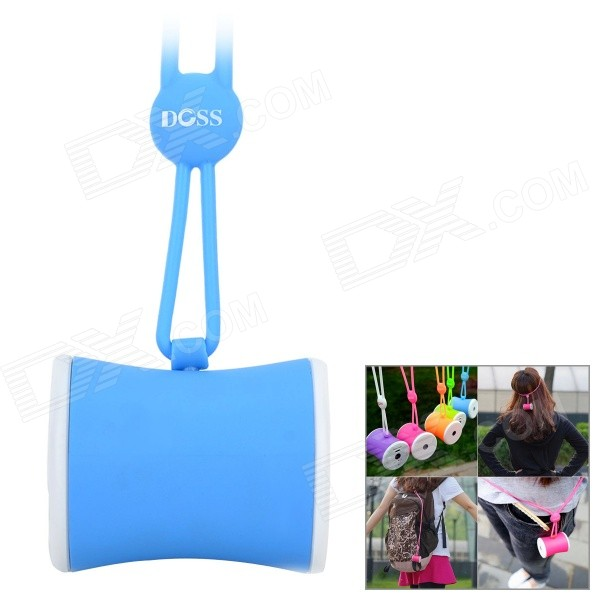 DOSS DS-1159 Waist Drum Shaped Portable Outdoor Wearable Wireless Bluetooth Speaker w/ TF - Blue