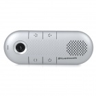 Car Sun Visor Mounted Bluetooth V3.0 Wireless Hands-free Speaker Loudspeaker Speakerphone - Silver