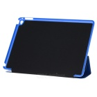 Suojaava 3-taitto PU Leather Smart Case w / jalusta iPad AIR 2 - Deep Blue