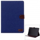 Denim Pattern PU Leather Smart Case w/ Stand / Card Slots for IPAD AIR 2 - Blue