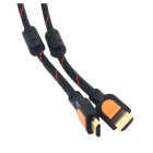 Yellow Knife YK2029 High-speed HDMI V1.4 Male to Male Connection PVC Cable - Black + Red (1.5m)