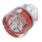 Diamond Shaped Deep Sea Underwater Fishing Flashing LED Attraction Light - Red + Transparent
