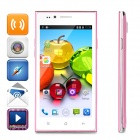 "MG7 4.5"" Android 4.4.3 Single-Core WCDMA + GSM 3G Phone w/ Dual-SIM, Dual Standby - White + Pink"