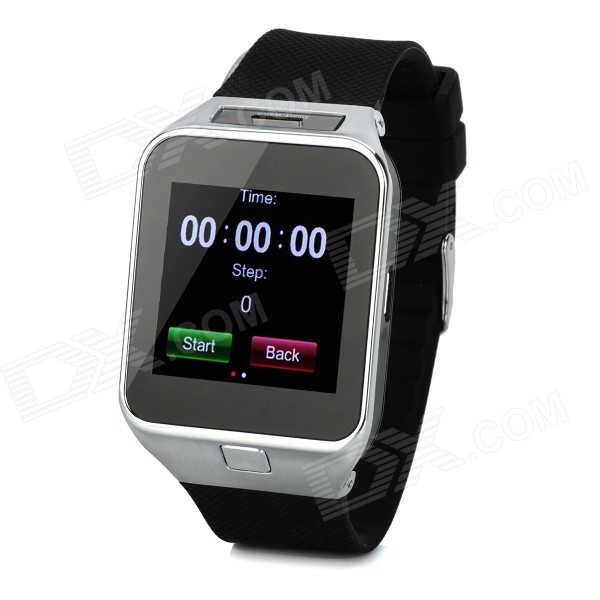 M9 1.54 Touch Screen Smart GSM Watch Phone w/ Bluetooth, TF - Black + Silver