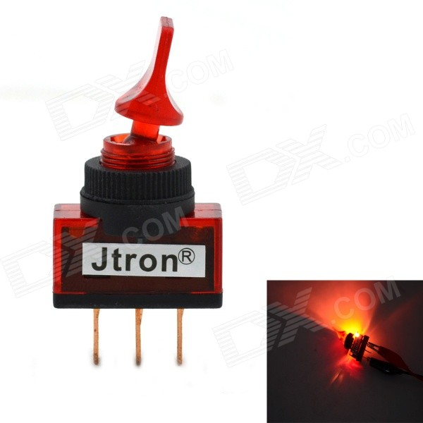 Jtron 12V Brachypodium Auto Switch / Toggle Switch with Red Light - Red