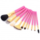 MAKE-UP FOR YOU 10-in-1 Cosmetic Makeup Brush Tools Set w/ Carrying Bag - Deep Pink