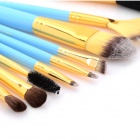 MAKE-UP FOR YOU 10-in-1 Cosmetic Makeup Brush Tools Set w/ Carrying Bag - Blue