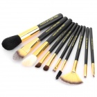 MAKE-UP FOR YOU 10-in-1 Cosmetic Makeup Brush Tools Set w/ Carrying Bag - Black
