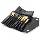 10-in-1 Cosmetic Makeup Brush Tools Set w/ Carrying Bag - Black