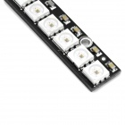 WS2811 RGB 8-LED Module Strip Luz - Negro