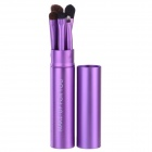 Make-up für SIE Tragbare 5-in-1 Kosmetik Make-up Pinsel Set - Purple
