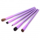 MAKE- UP FOR YOU Portable 5-in-1 Cosmetic Make-up Brushes Set - Purple