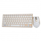 HK-3910 2,4 GHz Wireless USB 2.0 Tastatur-Maus-Set - Weiß + Gold (4 x AAA)