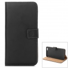 "W-2  Classic Flip-open PU Leather Case w/ Holder for IPHONE 6 PLUS 5.5"" - Black"