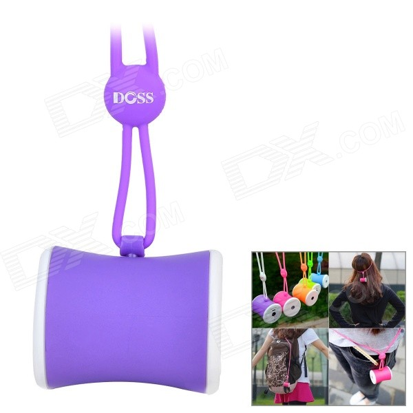 DOSS DS-1159 Waist Drum Shaped Portable Outdoor Wearable Wireless Bluetooth Speaker w/ TF - Purple mooncase hard chrome plated star bling back чехол для huawei ascend y550 green