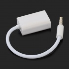 3.5mm Male to USB Female AUX Audio Video Adapter Cable - White (3 PCS / 13cm)
