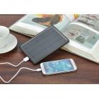 Universal Solar Powered 3.7V 7500mAh Li-polymer Battery Power Bank w/ LED Indicator - Black