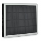 "Mobile ""10000mAh"" Solar Power Bank w/ Dual-USB - Silver + Black"