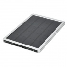 "Mobile ""10000mAh"" Solar Power Bank w / Dual-USB - plata + Negro"