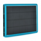 "Mobile ""10000mAh"" Solar Power Bank w/ Dual-USB - Blue + Black"