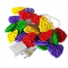 JIAWEN Woven Hear-shaped Lampshade 3W 20-LED RGB Lamp Strip for Christmas / Party Decoration (4m)