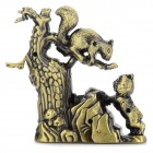 sysh0078 Squirrel Style Zinc Alloy Butane Lighter w/ Watch - Bronze