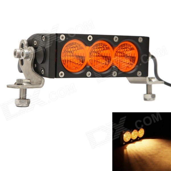 MZ 30W 2400lm Flood Yellow Beam LED Worklight Bar Offroad 4WD SUV Driving Lamp mz 41 260w 20800lm 6000k 26 led flood spot beam worklight bar offroad 4wd suv driving lamp