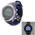 Multi-Function Outdoor Digital Sport Watch w/ Pedometer / GPS / Compass / Backlight - Deep Blue