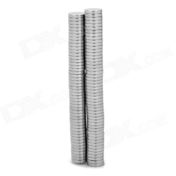 D10mm x 1.9mm NdFeB Round Magnets - Silver (100 PCS)