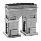 DIY Educational 3D Triumphal Arch Model Puzzle - Silver
