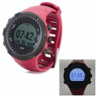 GD-003 Multi-Function Outdoor Digital Sport Watch w/ GPS,Compass - Red