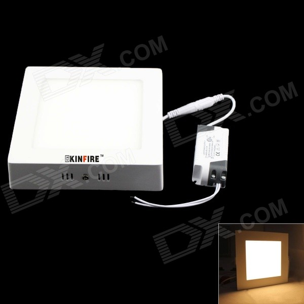 KINFIRE 18W 1210LM 3000K 90-3528 SMD LED Warm White Frosted Square Ceiling Panel Light (AC85-265V)