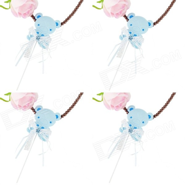 HL-TB-4 Cute Small Bear Style Cake Decorator - Blue (4PCS)