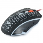 RAJFOO USB 2.0 Wired 800/1200 / 1600/2400 dpi Gaming LED Mouse - Musta + monivärisiä