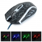 RAJFOO USB 2.0 Wired 800/1200/1600 / 2400DPI Gaming LED Maus - Schwarz (136cm-Kabel)