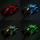 RAJFOO USB 2.0 Wired 800/1200 / 1600/2400 dpi Gaming LED Mouse - Musta (140cm-kaapeli)