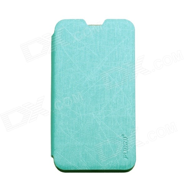 все цены на PUDINI WB-530 Protective Flip Open PU + PC Case w/ Stand for Nokia Lumia 530 - Blue онлайн